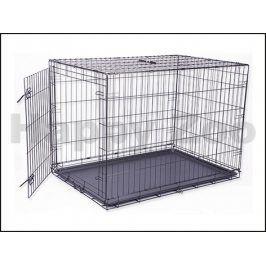 Klec pro psy DOG FANTASY skládací černá (XL) 107x76x71cm