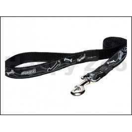 Vodítko ROGZ Fancy Dress HLL 02 CB-Black Bones (XL) 2,5x180cm