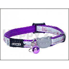 Obojek ROGZ Catz NightCat CB 208 E-Purple Budgies (XS) 0,8x16,5-