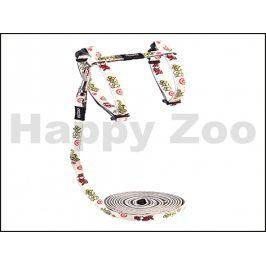 Postroj s vodítkem ROGZ Catz GlowCat CLJ 09 E-Silver Gecko (S) 1