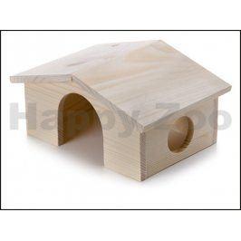 Dřevěný domek JK pro morčata 22x15x11cm