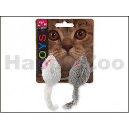 Hračka MAGIC CAT pro kočky - myš chrastící s catnipem 11cm (2ks)