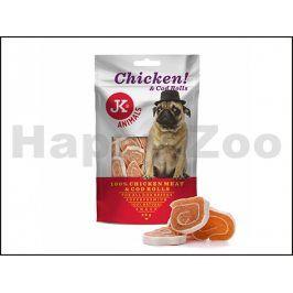 JK Meat Snack Chicken and Cod Rolls 80g
