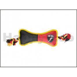 Hračka KARLIE-FLAMINGO nylon - kost s provazem černočervená 25cm
