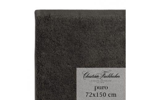 Christian Fischbacher Osuška 72 x 150 cm antracitová Puro, Fischbacher Ručníky