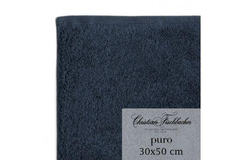 Christian Fischbacher Ručník pro hosty 30 x 50 cm kobaltově modrý Puro, Fischbacher Ručníky
