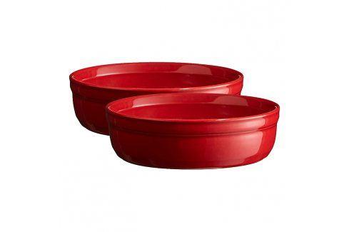 Emile Henry Sada misek na Crème Brulée Ø 13 cm červená Burgundy Mísy a misky