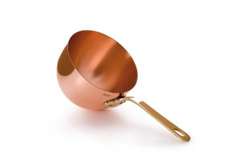 MAUVIEL Měděná miska na zabaglione s bronzovou rukojetí Ø 20 cm Mísy a misky
