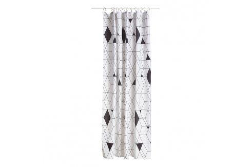 ZONE Sprchový závěs 180 × 200 cm black HARLEQUIN Závěsy
