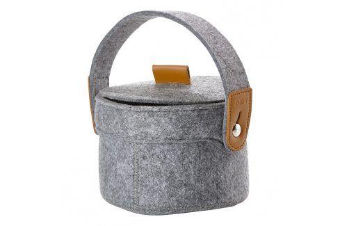 ZONE Úložný košík s uchem malý grey CRAFT Nákupní tašky a košíky