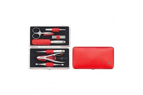 ZWILLING Manikúra 7dílná TWINOX® Dauphine červená Kosmetické pomůcky