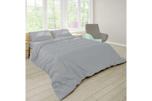 Povlečení Pastel šedé 140x200 jednolůžko - standard bavlna Jednobarevné povlečení
