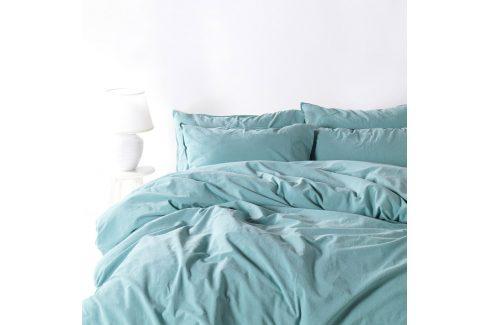Povlečení Stonewash světle modré 140x220 jednolůžko - prodloužené bavlna Luxusní povlečení
