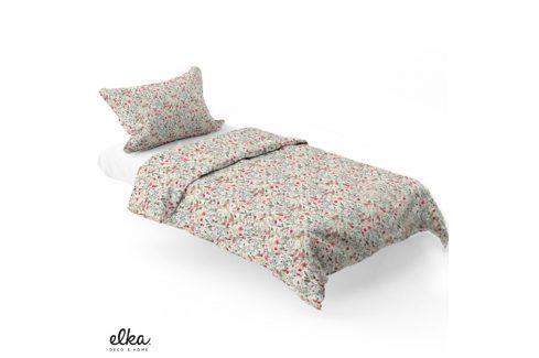 Povlečení ELKA LOUNGE Flowers 140x200 jednolůžko - standard Bavlněný satén Luxusní povlečení