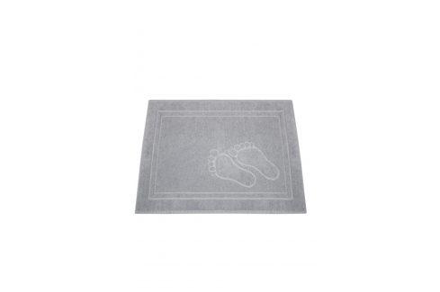 Koupelnová předložka Feet světle šedá 50x70 cm bavlna Předložky