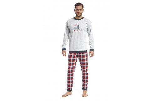 Pánské pyžamo CORNETTE Football all my life  šedočervená Pánská pyžama