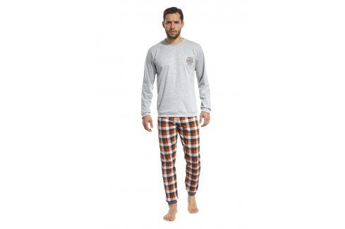 Pánské pyžamo San Francisco  šedooranžová Pánská pyžama