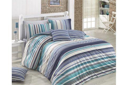 Povlečení Marino modré 140x200 jednolůžko - standard bavlna Geometrické vzory