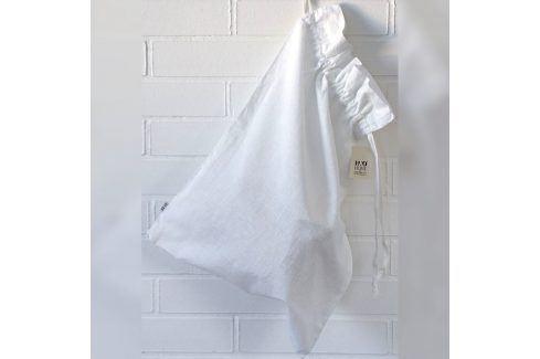 Pytel na prádlo lněný bílý 40x60 cm bílá Doplňky
