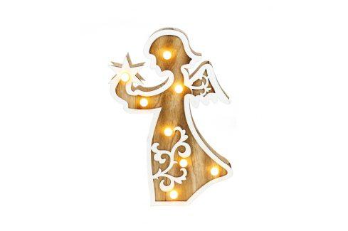 Marimex | Nature anděl 8 LED | 18000267 Vánoční dekorace
