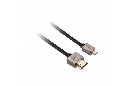 GoGEN HDMI / HDMI micro, 1,5m, v1.4, pozlacený, High speed, s ethernetem (GOGMICHDMI150MM01) Propojovací kabely a redukce