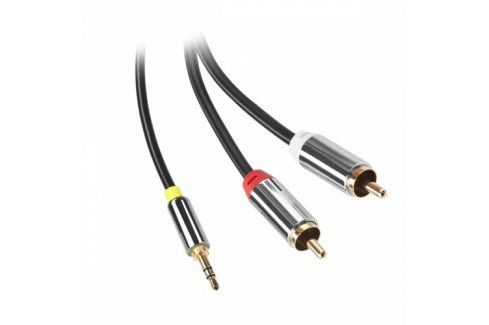GoGEN Jack 3,5mm / 2x Cinch, 3m, pozlacené konektory (GOGCINJACK300FM01) Propojovací kabely a redukce