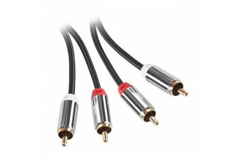 GoGEN 2x Cinch / 2x Cinch, 2m, pozlacené konektory (GOG2CINCH200MM01) Propojovací kabely a redukce