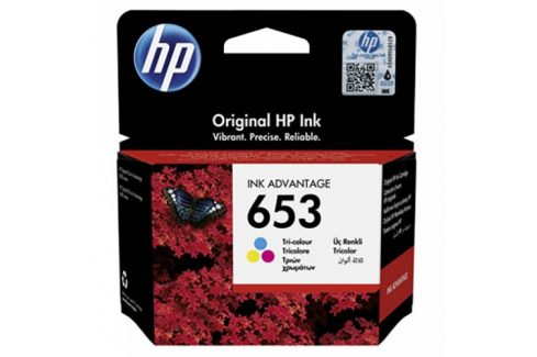HP 653, 200 stran, CMY (3YM74AE) Inkousty a refillkity