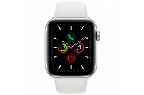 Apple GPS 44mm pouzdro ze stříbrného hliníku - bílý sportovní řemínek SK (MWVD2VR/A) Chytré hodinky
