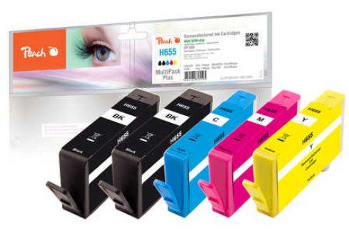 Peach HP No. 655 MultiPack,  kompatibilní (319280) Inkousty a refillkity