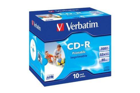 Verbatim CD-R DLP 700MB/80min. 52x, jewel box, 10ks (43325) CD disky