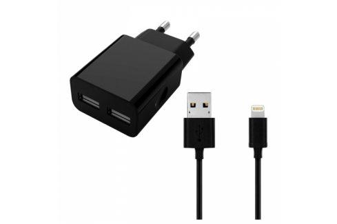 WG 2xUSB, 2,4A + Lightning kabel (4049) Nabíječky pro mobilní telefony - neoriginální