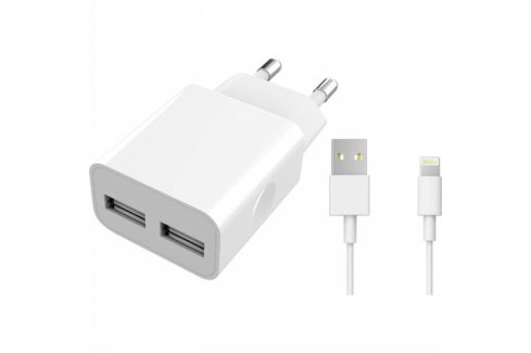 WG 2xUSB, 2,4A, MFi + Lightning kabel (5983) Nabíječky pro mobilní telefony - neoriginální