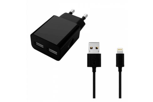 WG 2xUSB, 2,4A, MFi + Lightning kabel (5982) Nabíječky pro mobilní telefony - neoriginální