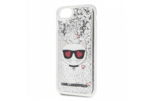 Karl Lagerfeld Heads Glitter na Apple iPhone 8/SE (2020) (KLHCI8KCGLSL) Pouzdra na mobilní telefony