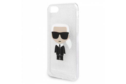 Karl Lagerfeld Glitter Ikonic na Apple iPhone 8/SE (2020) (KLHCI8TPUTRIKSL) Pouzdra na mobilní telefony