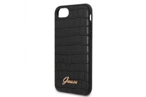 Guess Croco na Apple iPhone 8/SE (2020) (GUHCI8PCUMLCRBK) Pouzdra na mobilní telefony