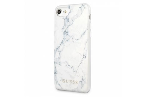 Guess Marble na Apple iPhone 8/SE (2020) (GUHCI8PCUMAWH) Pouzdra na mobilní telefony