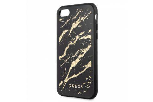 Guess Glitter Marble na Apple iPhone 8/SE (2020) (GUHCI8MGGBK) Pouzdra na mobilní telefony