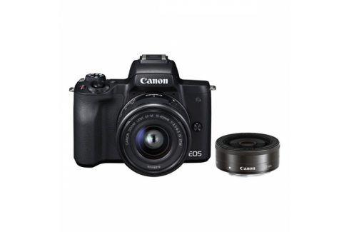 Canon M50 15-45 IS STM + M 22 (2680C032) Kompakty s výměnnými objektivy