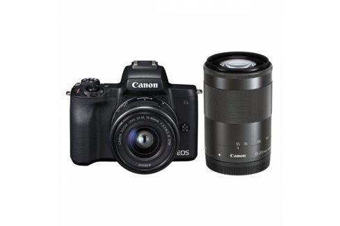 Canon M50 + EF-M15-45 + EF-M55-200 (2680C022) Kompakty s výměnnými objektivy