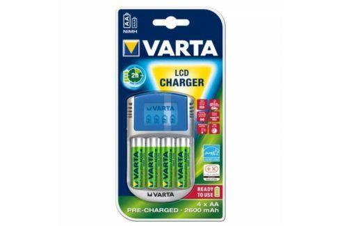 Varta LCD Charger + AA, 2 600 mAh, 4 ks Univerzální nabíječky