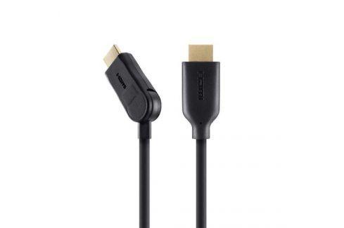 Belkin HDMI 1.4, 2m, 90° úhlový konektor (F3Y024bf2M) Propojovací kabely a redukce