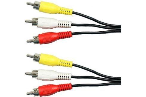 AQ 3x CINCH / 3x CINCH, video + stereo audio, 2 m (xaqcv25020) Propojovací kabely a redukce