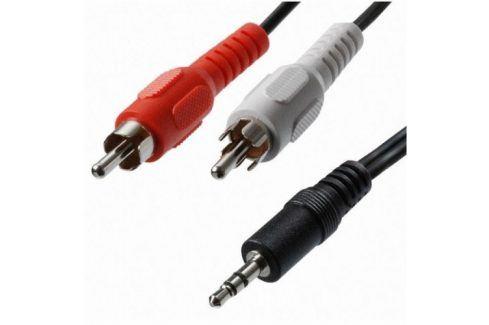 AQ 3,5 mm jack na 2x RCA konektor, M/M, 3 m (xaqca42030) Propojovací kabely a redukce