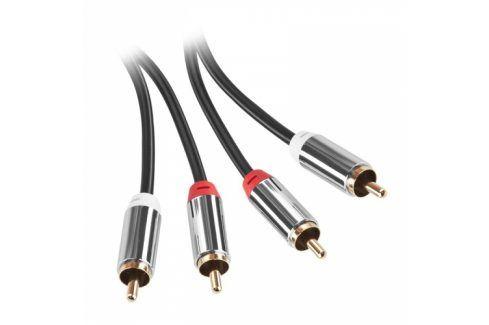 GoGEN 2x Cinch / 2x Cinch, 5m, pozlacené konektory (2CINCH500MM01) Propojovací kabely a redukce