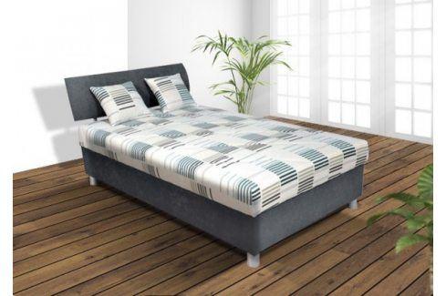 Čalouněná postel George 120x200, šedá, vč. matrace a úp Postele