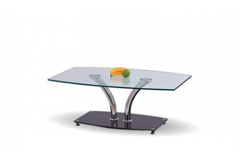 Konferenční stolek PAULA (Chrom/Sklo) Konferenční stolky
