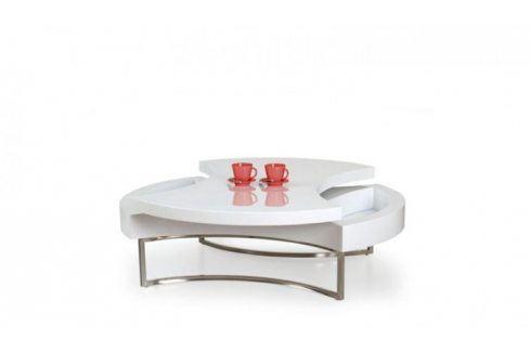 Konferenční stolek Aurea (Bílá/Chrom) Konferenční stolky