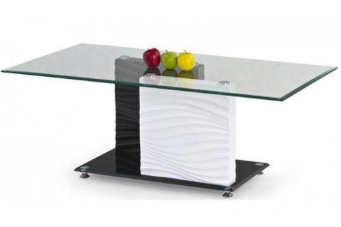 Konferenční stolek Shanell (Sklo/Černo-bílá) Konferenční stolky